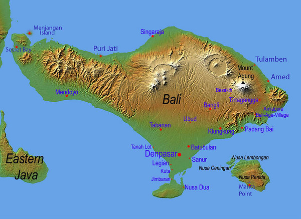bali dive site map